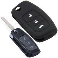 Custodia silicone NERO guscio protettivo telecomando auto car FORD S-Max FO1