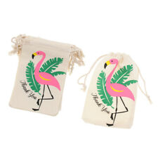 10pcs Pack Flamingo Thank you Gift Bag Jewelry Pouch Party Favor