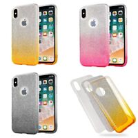 Custodia Cover - Versione Back Case Bling in 3 Parti Silicone Plastica e Glitter