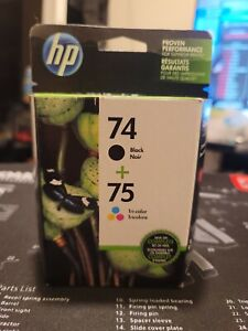 HP 74/75 Black/Tri-Color Ink Cartridge EXP 07/2022