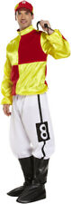 Christmas Men's Adult Jockey Red-yellow Costume Jickey Party Fancy Dress Outfits