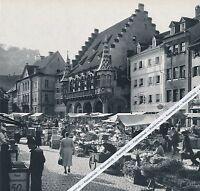 Freiburg - Wochenmarkt - Großformat - um 1955 - RAR     K 4-16