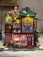 """RARE Lemax Sights & Sounds """"The Candy Cane Works"""" #05681 NIB Animated Village"""