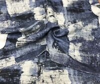 LUXURIOUS NAVY CHENILLE UPHOLSTERY FABRIC 1.7 METRES