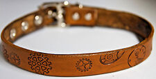 Steampunk locking lockable leather collar with gears Choose color