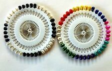 Lot of (2) Sets of (40) Small Hijab Pins: (1) Black & White and (1) Multi Colors