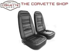 C3 Corvette Leather Like Seat Covers Black 1972-1974 421320