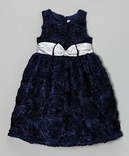 "NEW ""DARK NAVY SOUTACHE"" Dress Girls Clothes 6 Fall Winter Boutique Holiday"