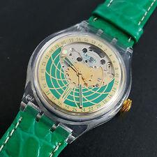 Swatch Automatic Uhr RAMARRO SAK111, UNGETRAGEN, 23 Rubine, Automatik, NEU + OVP
