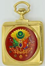 MUSEUM antique gold plated silver&enamel Ottoman  Pasha award pocket watch.RARE