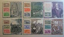 1992 Italia  Colombo 6 Foglietti   Celebrazioni Columbiane    MNh**