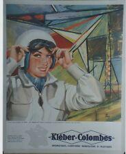 """""""KLEBER-COLOMBES""""Affiche originale entoilée offset années 60 TROY 45x55cm"""
