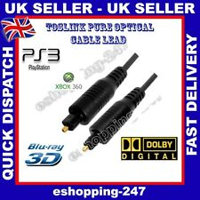 10m óptico Macho Hd Toslink Selector Splitter Dolby 5.1 Tv Ps3 Hifi Cable B186