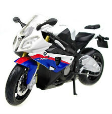 Maisto 1:12 BMW S1000RR Sport Motorcycle Model White Blue New in Box