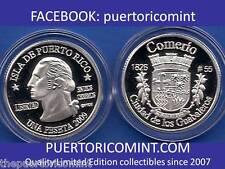 Silver PESETA COMERIO  2009 Puerto Rico Boricua Quarter 1/100 Plata