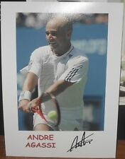 ANDRE AGASSI signed Print