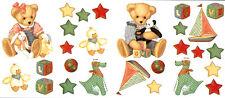 Baby Teddy Bear with Toys Wall Sticker Decal Mural Nursery Kid's Room Decor