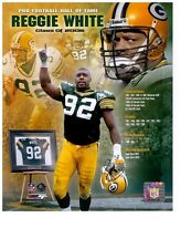 Reggie White Authentic 8x10 Color Photo Collage Green Bay Packers NFL HOF