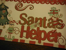 Premade Christmas  SANTA's Helper  for your Family 12x12 Scrapbook Pages