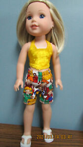 "Friends Shorts Set made to fit  14.5"" Wellie Wishers dolls   4+"