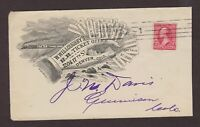 Colorado: Denver 1900 Willoughby's Railroad Ticket Office Advertising Cover