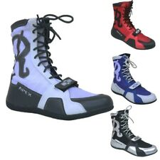 Ringside Apex Elite Shoe12 Hi-Top Low Top Boxing Shoes Boots - Black Red White