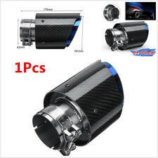 63mm-101mm Glossy Carbon Fiber Exhaust Tip Universal Auto Car Exhaust Pipe Blue
