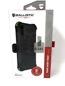 Ballistic Apple iPhone XS/X Tough Jacket Holster Belt Clip with Case Black