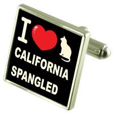 I Love My Cat Sterling Silver 925 Cufflinks Bond Money Clip California Spangled
