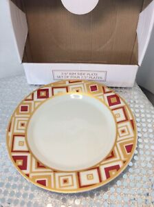 10 Strawberry Street  Luncheon Plate (Set of 4) XENA RUBY /gold replacements