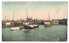 WARRINGTON Latchford Locks, Postcard by Valentine Postally Used 1911