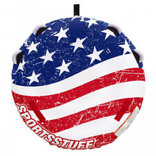 Sportsstuff Stars and Stripes Inflatable 1 Rider Watersports Towable Deck Tube