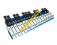 ProKussion 27 Key Chromatic Glockenspiel Xylophone in Blue and 2 Beaters