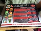 21-pc. Kitchen cutlery set by Chef Deluxe Miracle Edge- NIB