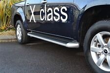 Running Boards For Mercedes-Benz X-Class 2017+ Polished Aluminium Side Steps