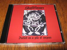 """SKULLFLOWER """"Fucked on a Pile of Corpses"""" CD white medal the rita"""