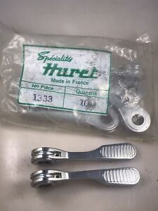 Pair NOS Huret 1333 Luxe Downtube Shifter Levers for Vintage 10 Speed Steel Bike