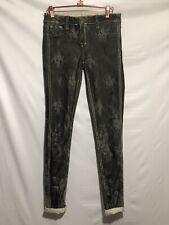 Bleulab Denim Reversible Detour Legging Jeans Size 27 Skinny Stretch Lace Print