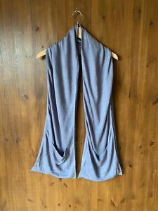 POETRY SCARF Linen / Silk Grey Ladies - BNWOT