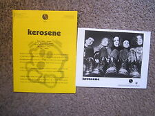 "Kerosene ""Arrhythmia"" 1993 Sire/W.B. Press Kit-8x10 Publicity Photo+Bio-Rare!"