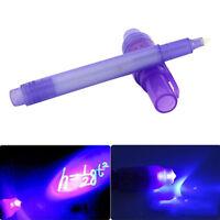 Magia 2 in 1 UV Nero Luce Creativo Combinata Moda Invisibile Inchiostro Penna