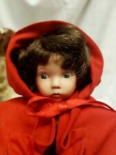 """Dianna Effner Porcelain Storybook Doll by Edwin Knowles 8"""" Red Riding Hood"""