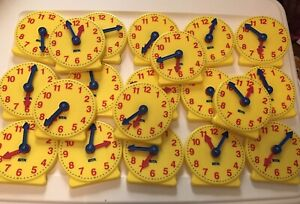 ETA Student Clock Teaching Demonstration Clocks Homeschooling Lot Of 20