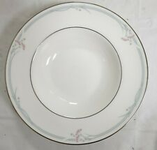 "ROYAL DOULTON 'CARNATION' PATTERN H5084 BONE CHINA RIMMED SOUP BOWL 9"" (22.9CM)"