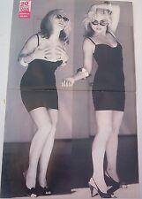 BLONDIE Debbie Harry heels VOX Centerfold magazine POSTER  20x12 inches