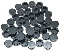 Lego 50 New Black Tiles Round 1 x 1 Flat Smooth Pieces Parts