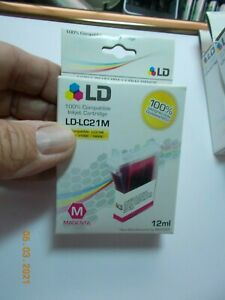 Sealed LD Products LD-LC21M 12 ML Magenta Ink Cartridge Brother Use b4 01/09