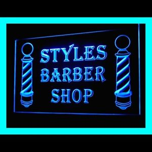 160094 Styles Barber Treatment Hairdresser Hair Display Neon Sign
