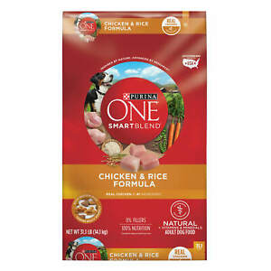 Purina ONE SmartBlend Natural Chicken & Rice Formula Dry Dog Food, 31.1 lbs Bag