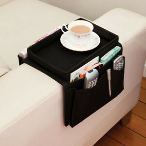 Sofa Arm Rest Chair Settee Couch-Remote Control Table Top Holders Organiser Tray